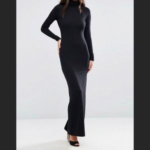 ASOS Bodycon Maxi Dress With Turtleneck Size 4